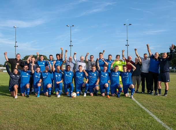 Donation helps football club see the light